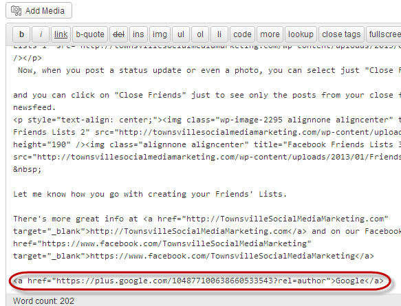Google Authorship WordPress Code