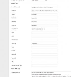 Google Authorship WordPress User Setup